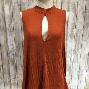 We The Free Free People Women Blouse Medium Orange